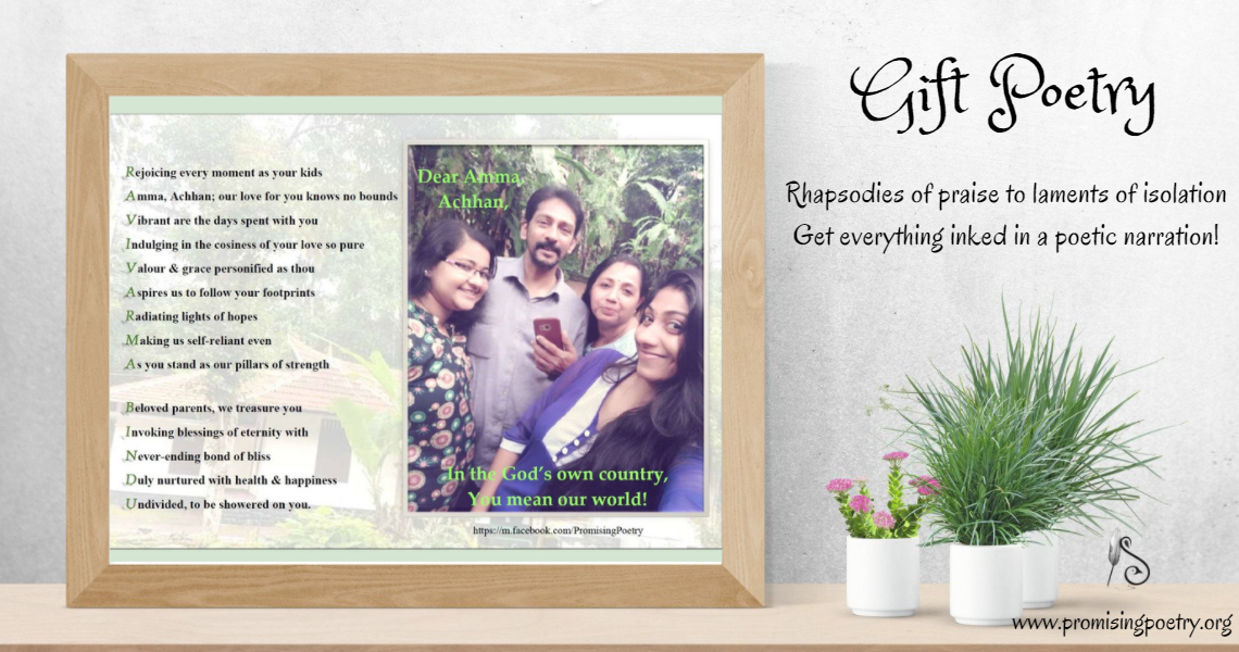 A customized poetry gift