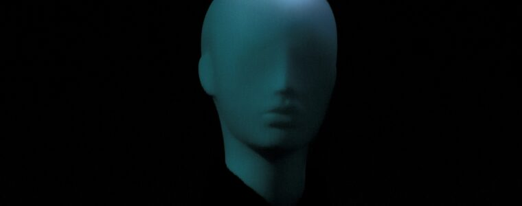 A head bust form with no eyes